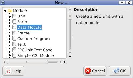 new data module