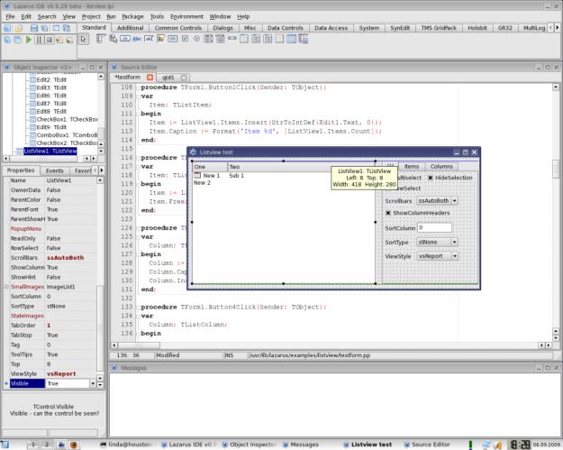לזרוס 0.9.29 המשתמש ב Qt תחת לינוקס